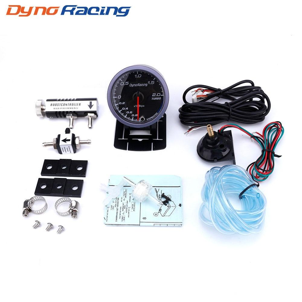 Dynoracing 60MM Car Turbo Boost gauge 2BAR + Adjustable Turbo Boost Controller Kit 1-30 PSI IN-CABIN Car MeterDynoracing 60MM Car Turbo Boost gauge 2BAR + Adjustable Turbo Boost Controller Kit 1-30 PSI IN-CABIN Car Meter