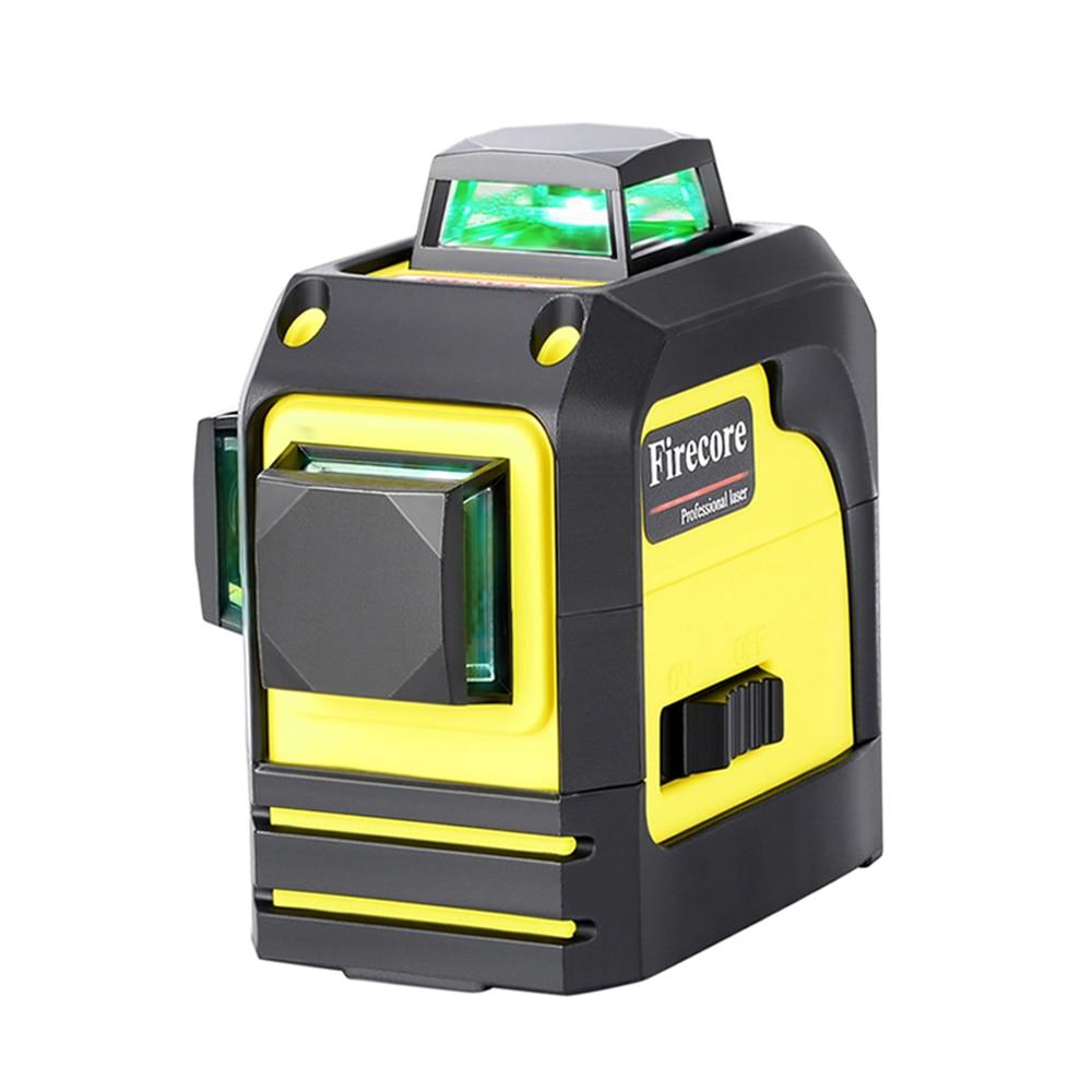 F93TR/F93TG 12 lignes 3D rouge vert niveau Laser 360 auto-nivellement ligne de faisceau Laser croisé + récepteur + support d'aimant