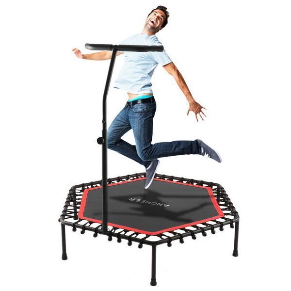 Okrągłe dzieci Mini trampolina z poręczą trampolina odbicia netto szafka do ćwiczeń na świeżym powietrzu zabawki łóżko skacząc dom