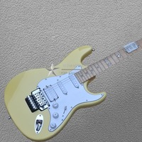 Best Price Top ST Classic Milk yellow color Double shake Free shipping wholsale guitar ST guitar Factory outlet electric guitar