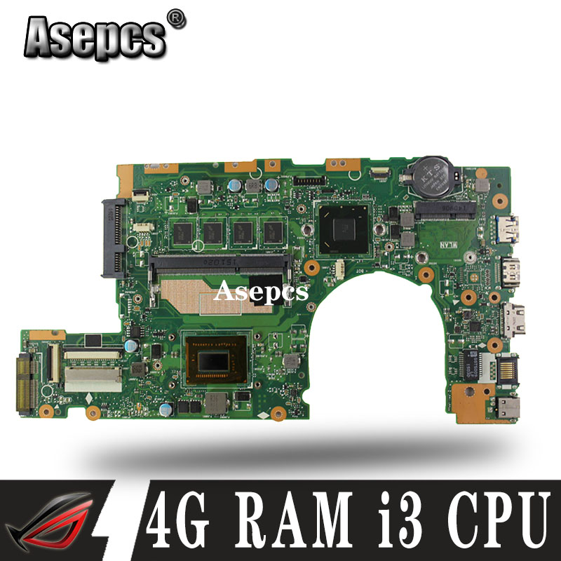 Akemy S400CA Laptop <font><b>motherboard</b></font> for <font><b>ASUS</b></font> S400CA S500CA <font><b>S400C</b></font> S500C S400 S500 Test original mainboard 4G RAM i3 CPU image