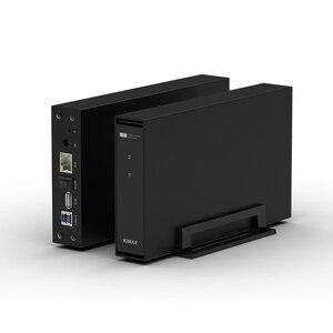 Беспроводной корпус для хранения NAS hdd 3,5 ''sata RJ45 USB3.0 NAS чехол для жесткого диска персональное интеллектуальное хранение ios android APP