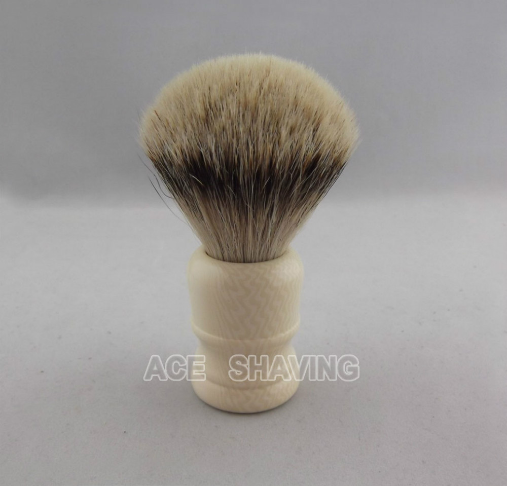 Free Shipping Nice Ivory Color Handle Silvertip Badger