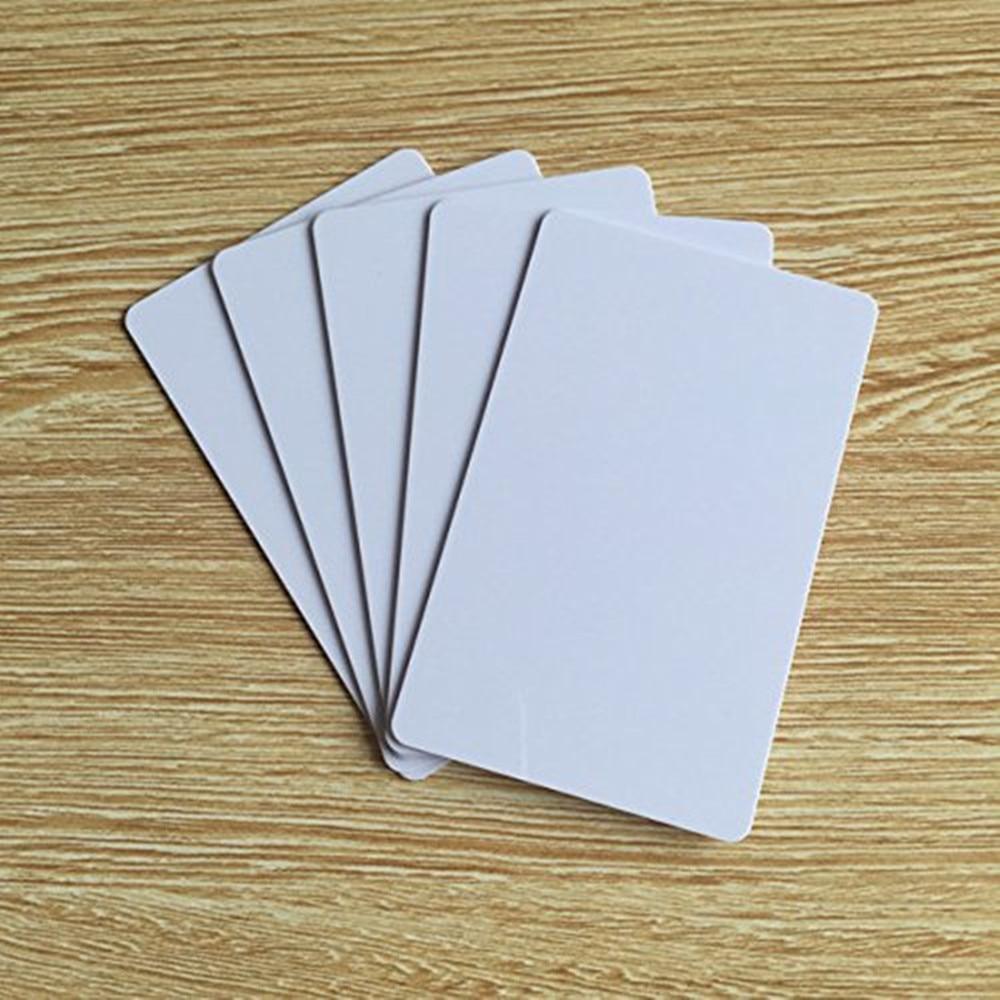 OBO HÄNDE Blank EVOLIS Sublimation Bedruckbar PVC Kunststoff Foto id Weiß Kreditkarte 30Mil CR80 (packung 100/200 stücke)