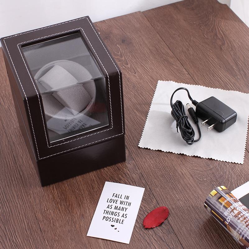 Offre spéciale!!! Luxe haute qualité montre remontoir support de montre boîte d'affichage automatique mécanique montre remontoir boîtier moteur Shaker - 5