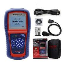 Высококачественный оригинальный Autel AutoLink AL419 OBD II и CAN считыватель кодов Автоссылка AL 419 обновленный онлайн инструмент для автодиагностики