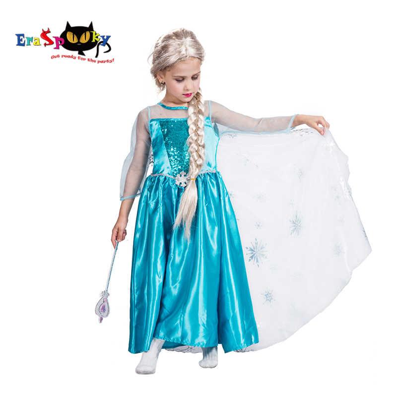 Elsa Halloween Costumes For Kids.Girls Costume Princess Dress Elsa Cosplay Hair Snow Princess Halloween Costume Kids Carival Party Girl Dresses Cape Anna Cosplay Girls Costumes Aliexpress