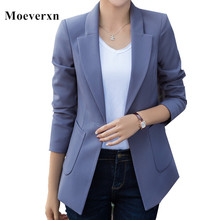 Spring women blazers and jackets 2017 autumn long sleeve slim blazer coat single button casual jaqueta feminina fashion OL style