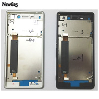 100 New Front Frame For Sony Xperia M4 Aqua Front Bezel Middle Frame Housing With Power