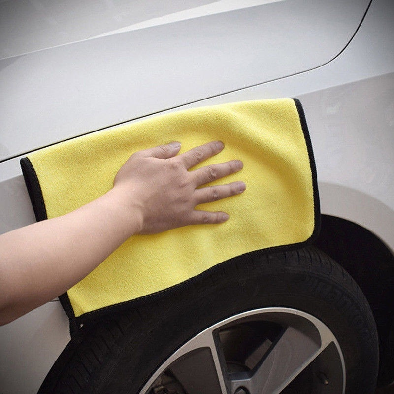 Image 4 - 2019 Size 30*30CM Car Wash Microfiber Towel Car Cleaning Drying Cloth Hemming Car Care Cloth Detailing Car Wash Towel For Toyota-in Cleaning Cloths from Home & Garden