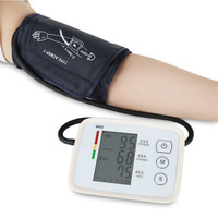 Fully automatic Arm Electronic Blood Pressure meter monitor Digital LCD USB charge Lithium battery high accuracy WHO Tips