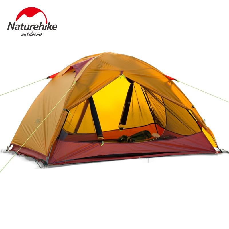 Naturehike сверхлегкий 2-х местная палатка Travel туристическая палатка 20D силиконовые ткань NH15Z006-P