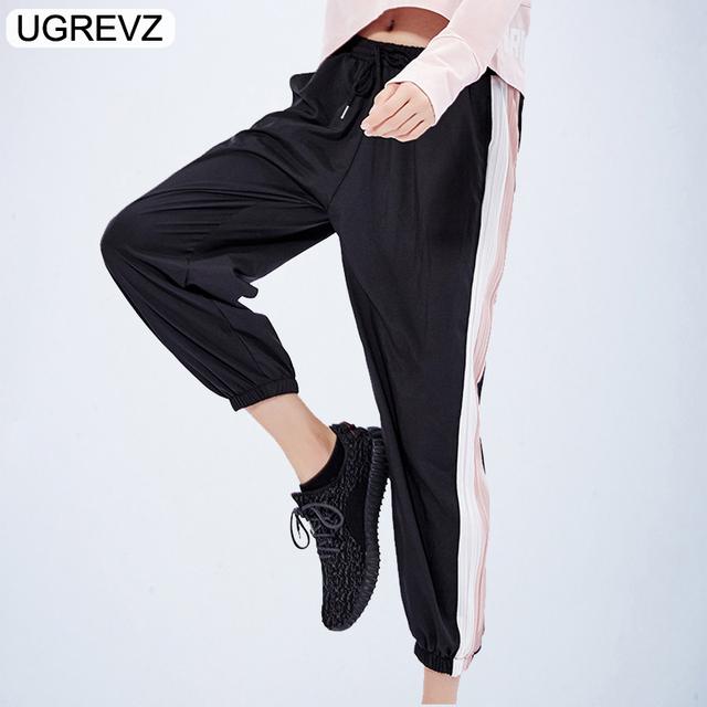 UGREVZ 2019 New Women Pants Loose Breathable Sports Running Sportswear Sports Wear For Women Gym Sport Running Elastic Pants