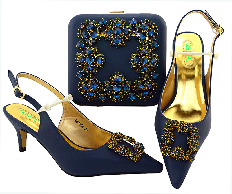 High class 6.5cm Italian Shoes and Bag Set African Nigerian style shoes matching bags set Ladies party high heels africa style pumps shoes and matching bags set fashion summer style ladies high heels slipper and bag set for party ths17 1402