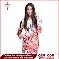 2016 Новый Осень Женщины Длинный Тонкий Рукавом Mini Dress O-образным Вырезом Печати Цветочные Мода Ретро Носить На Работу Платья Vestidos X8632