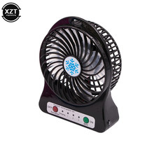 2019 Portable Mini USB Fan LED Light Air Cooler Small Desk 18650 Battery Fan for PC Laptop Cooling Fan ventilador(China)
