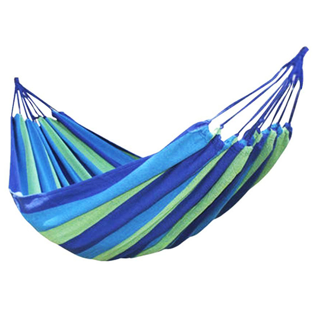 New Sale Canvas Single Hammock Outdoor Sleeping Gear For Hiking Backpacking ,Blue/colorful 190x80cm/200x100cm/200x80cm