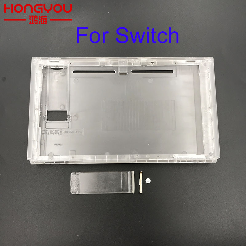 5pcs clear Replacement Upper & bottom faceplate for Nintend Switch NS Game Console case shell for Nintend Switch NS Game Console