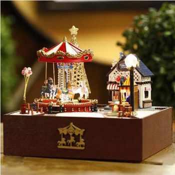 ประกอบ Miniature บ้านตุ๊กตาทำด้วยมือของเล่นฝันบ้านชุด DIY ห้อง Dollhouse กล่องเด็กของขวัญแฟนสาวของขวัญ