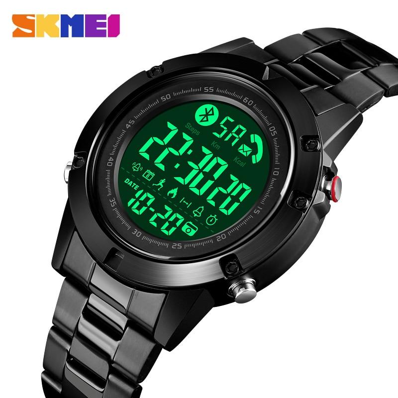 SKMEI Smart Fashion Sports Watch Men Life Waterproof No Charge Endurance Ability Bluetooth Motion Track reloj inteligente 1500 1