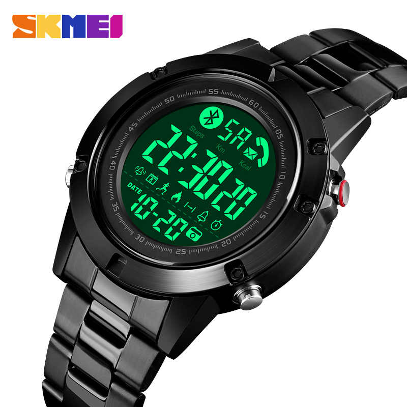 SKMEI Smart Fashion Sports Watch Men Life Waterproof No Charge Endurance Ability Bluetooth Motion Track reloj inteligente 1500
