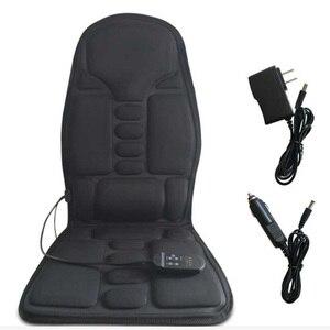 Image 5 - Cojín de masaje de cuerpo completo para coche y oficina, colchón vibrador de calor de 7 motores, silla de masaje para espalda y cuello, asiento de coche relajante de 12V