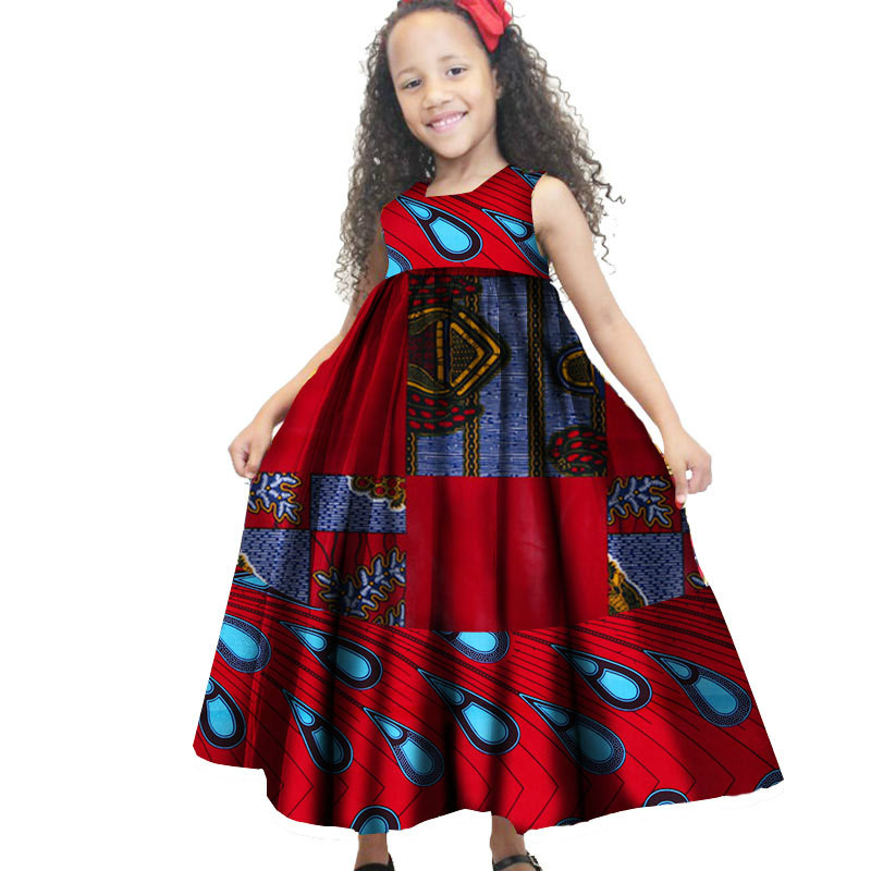 2018 New Arrival Fashion Style Summer African Children Girl Dress
