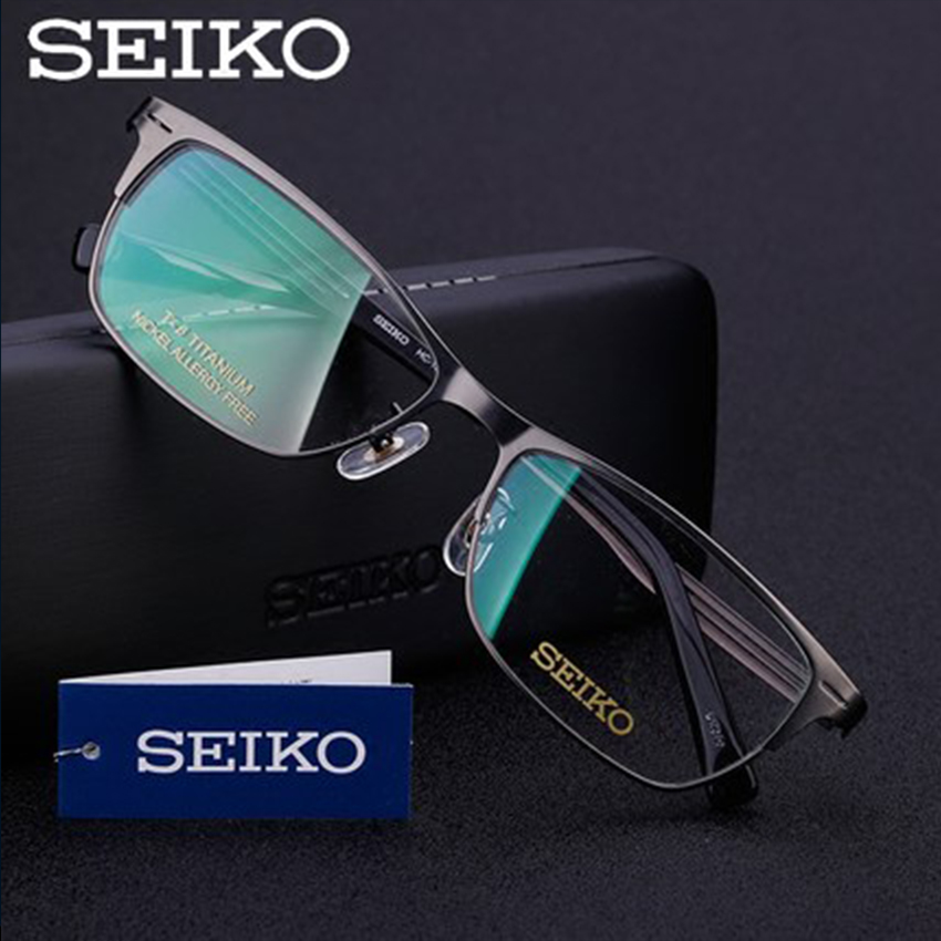 SEIKO Pure Titanium Glasses Frame for Men Titanium Eyeglasses Frame Men Optical Glass Spectacles HC1022