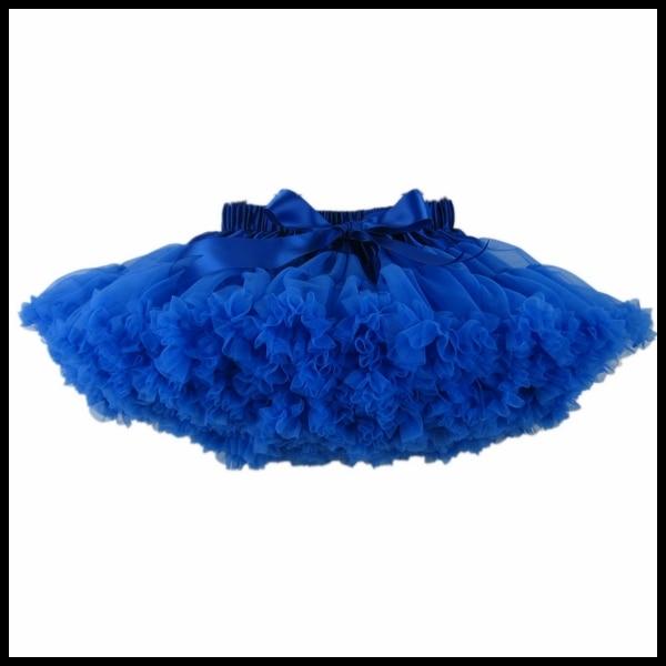 ; пышные шифоновые юбки-американки для малышей; 21 цвет; юбки-пачки для девочек; фатиновая юбка принцессы для танцевальной вечеринки; Нижняя юбка; - Цвет: royalblue