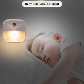 Kontrola czujnika światła LED lampka nocna przenośne energooszczędne schody korytarz toaleta nocna lampka nocna dla dzieci dziecko w podeszłym wieku