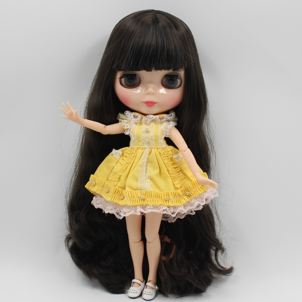 Neo Blythe Doll Yellow Apron Suit 3