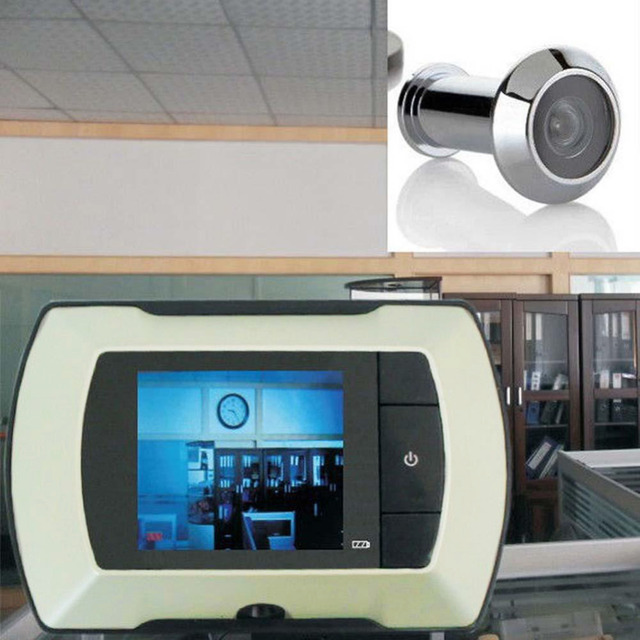 2.4\  LCD Visual Monitor Digital Door Viewer Doorbell Peep Hole Wireless Door Peephole Viewer Camera & 2.4\