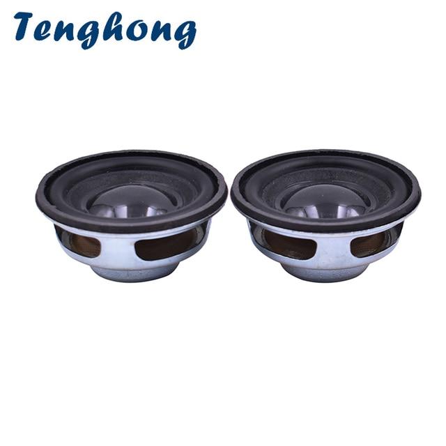 2 шт. 45 мм Полнодиапазонный динамик Tenghong, 4 Ом, 3 Вт, портативная аудио колонка, динамик для домашнего кинотеатра, звук, музыка, Bluetooth, громкий динамик «сделай сам»