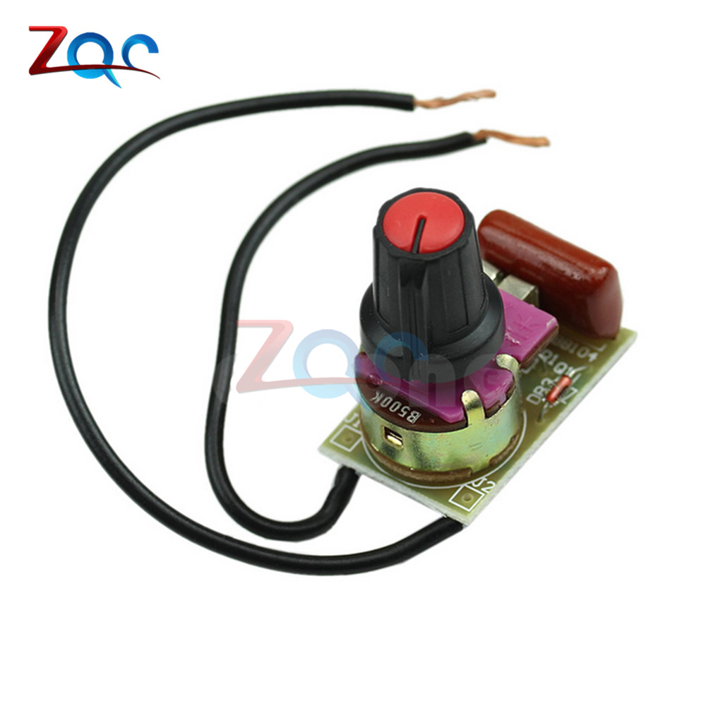 100W 220V Dimmer Module Assembled//DIY Kits With Switch Speed Regulation Module