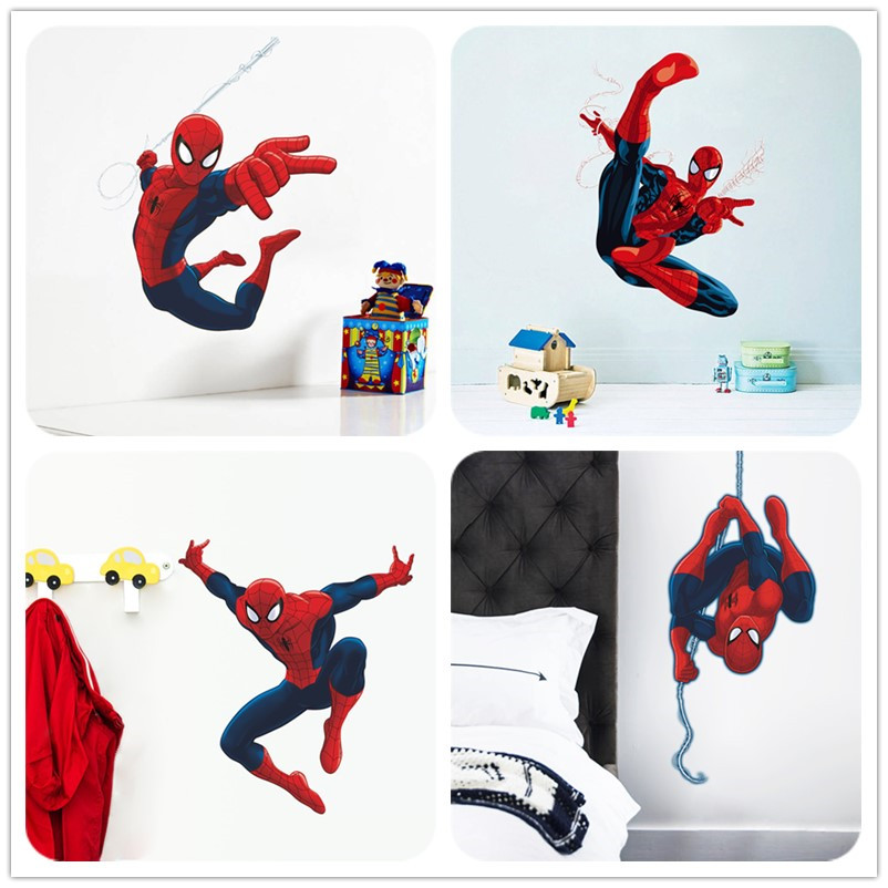 N3d Del Fumetto Spiderman Wall Stickers Per Bambini Camere Home
