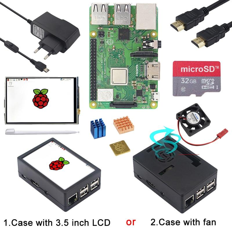 Raspberry Pi 3 Modèle B + Starter kit avec WiFi et Bluetooth + ABS Cas + Ventilateur/3.5 pouces 800*480 Écran Tactile + dissipateur de chaleur Pi 3B +