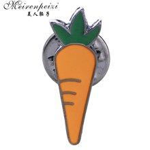 Эмалированная брошь в виде овощей и моркови для женщин детей