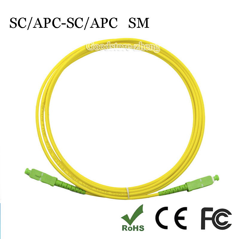 SC/APC-SC/APC SIMPLEX 9/125 fiber patch cord jumper cable, Single mode APC cable SC/APC 3M/5M/10M/15M/20M/30M/50M/80M/100M стоимость