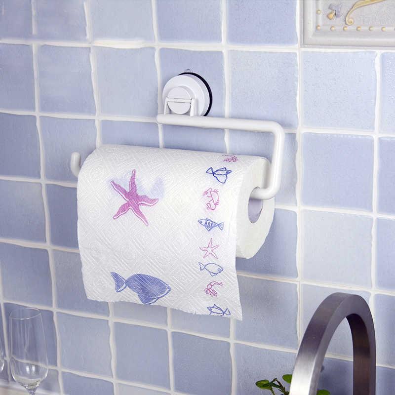 Bochsbc المطبخ ورق أبيض الأسطوانة الأنسجة صاحب ورقة منشفة شماعات الرف الإبداعية ورقة الرف abs المطبخ