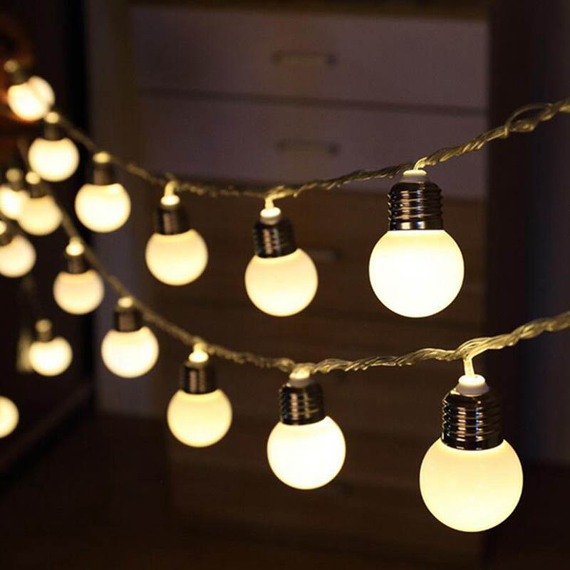 aliexpresscom buy 5m 20 led g45 globe party ball string lamps led string bulb lights christmas lights fairy wedding garden garland home decoration from - Christmas Globe Lights