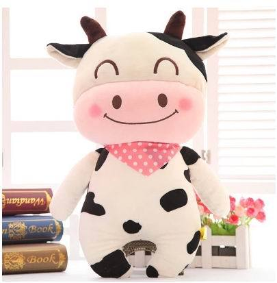 Super cute 1pc 40cm cartoon funny milk cow cattle ,bear rabbit plush hold pillow waist cushion creative stuffed toy child gift candice guo funny creative simulational chinese chess plush toy cushion pillow birthday gift 1pc