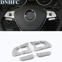 DNHFC Abs Multi function steering wheel Stickers Cover decoration Car Accessories For Volkswagen VW Tiguan 2017