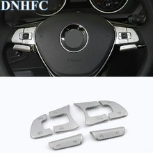 DNHFC Abs Multi-function steering wheel Stickers Cover decoration Car Accessories For Volkswagen VW Tiguan 2017