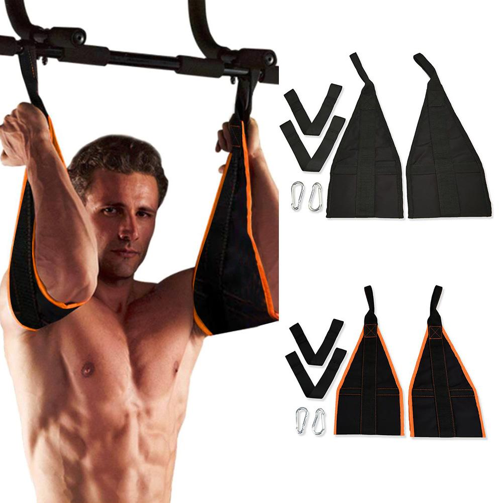 AB Trainer Hanging Belly Curly Shoulder Strap Leg Lifting Suspension Gym Home Exercise Fitness Equipment