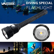 A29 Super Brightness XHP70 LED chip White Light 4000 Lumens Diving Flashlight Tactical 18650 Torch Underwater 100m Waterproof цена