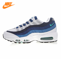 Nike Air Max 95 OG Men's Running Shoes, Outdoor Sneakers Shoes,Blue & White, Shock Absorption Breathable Non slip 554970 131