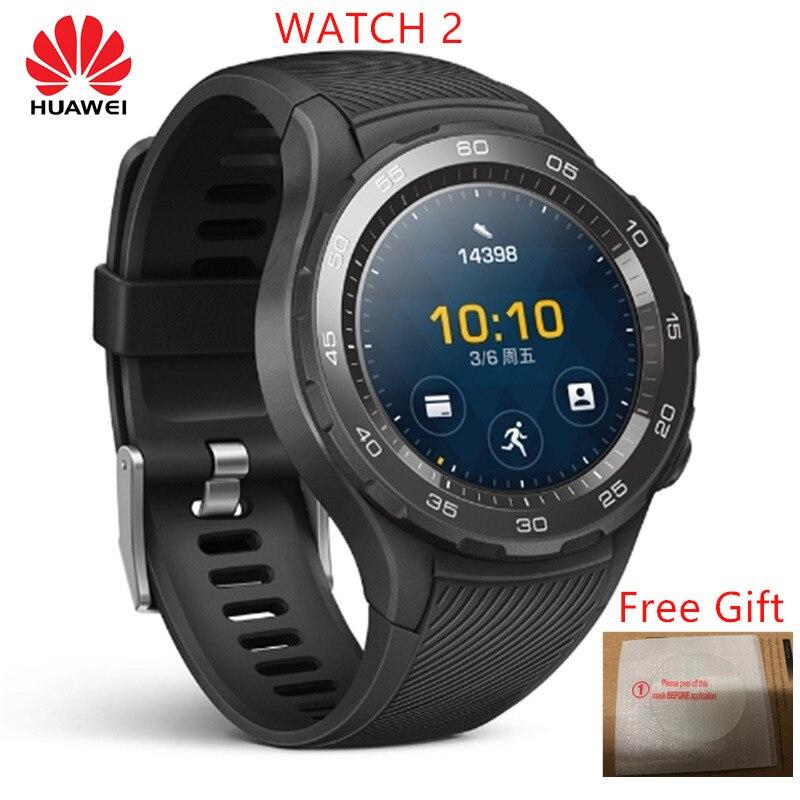 La montre intelligente d'origine Rom Huawei Watch 2 prend en charge l'appel téléphonique LTE 4G pour Android iOS avec GPS étanche IP68 NFC-in Montres connectées from Electronique    1