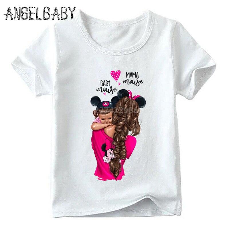 Одинаковые комплекты для семьи футболка для мальчиков и девочек с принтом супермамы и дочки одежда для подарка на День Матери Забавные футболки для детей и женщин - Цвет: 5281B