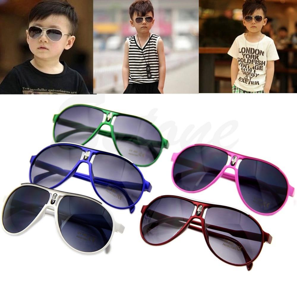 E74 frete grátis moda crianças bonitos da menina do menino do bebê dos  miúdos lente ac pc quadro uv 400 óculos de sol new 5bef37e1a2