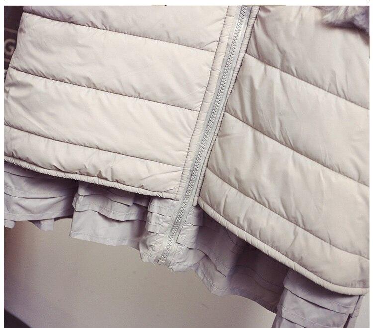 Capuche Noir Casual argent Parkas Rembourré Outfit Mode Mesure Hiver Manteaux Oversize 6xl 5xl Coton Volants Veste À Sur Ourlet OqFBnwYAC